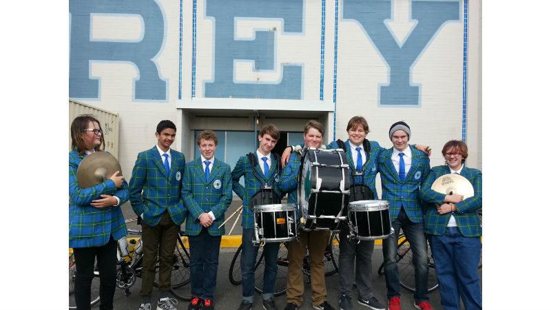 Drumline for Tour de Rock