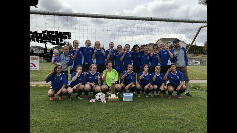 Jr. Girls Soccer Island Winners!